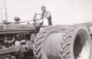 Young Dad Farming.